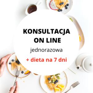 Konsultacja jednorazowa z dietą 7 dniową