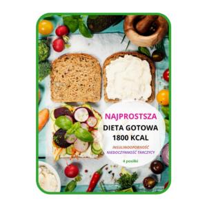 Najprostsza dieta gotowa 1800 kcal (4 posiłki) INSULINOOPORNOŚĆ I NIEDOCZYNNOŚĆ TARCZYCY