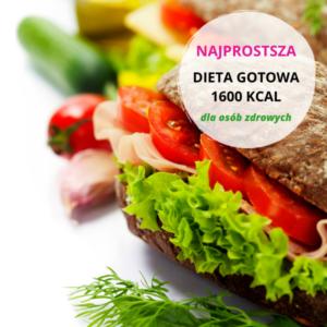 Najprostsza gotowa dieta odchudzająca 1600 kcal dla osób zdrowych